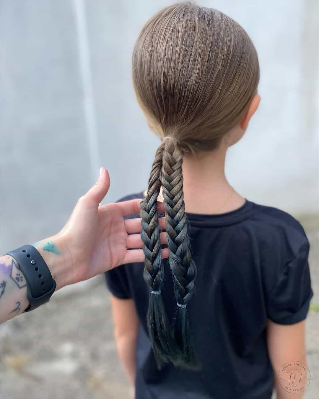 Twisted Braids Little Girl Haircut