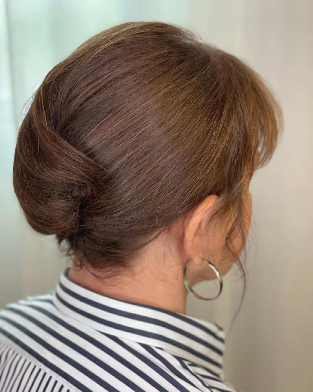Twisted Bun Light Brown Hair